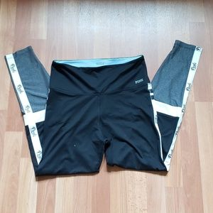 Pink ultimate black & gray yoga pants